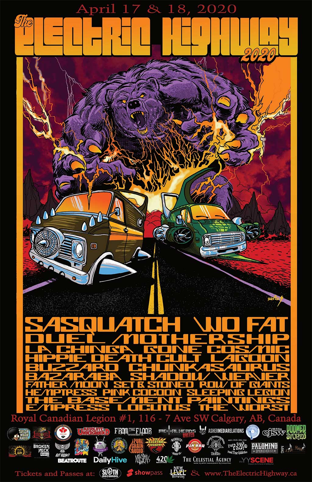 The Electric Highway Festival Official Poster