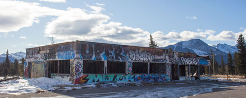 Abandoned: Fort Chiniki Gas Station, Near Canmore/Morley.