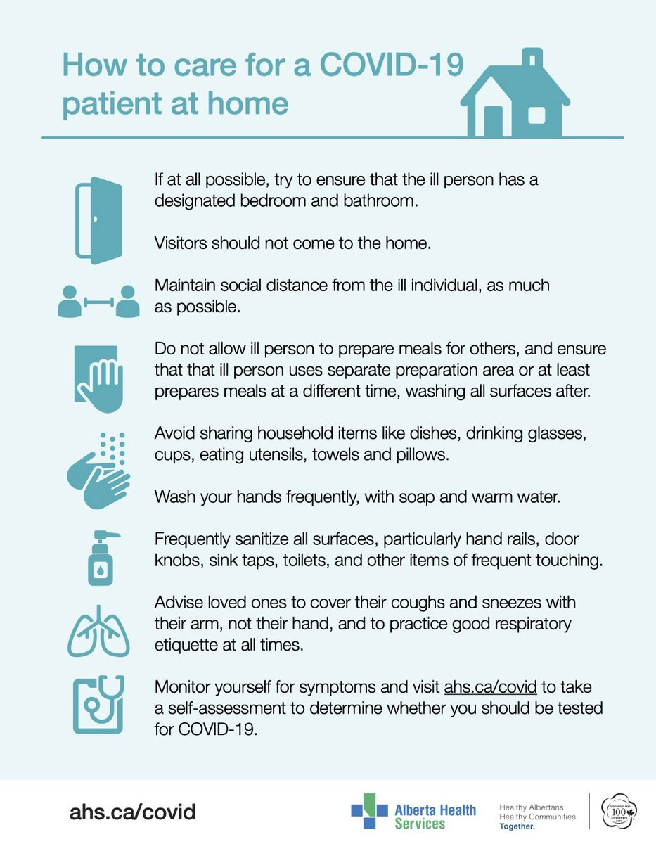 How to care for a covid-19 patient at home http://ahs.ca/covid