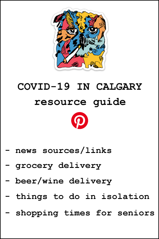 Resource Guide COVID-19 Coronavirus in Calgary for Pinterest