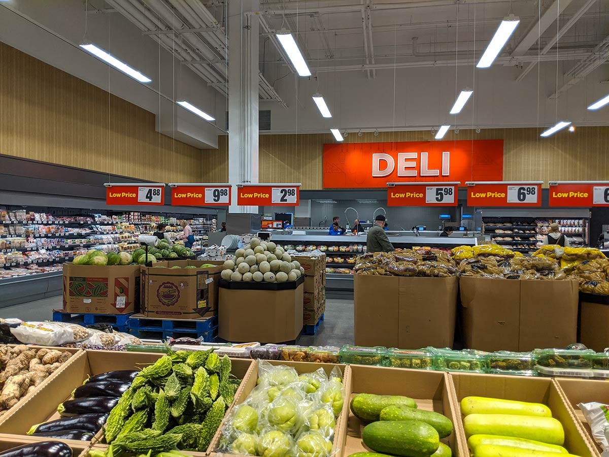 Real Canadian Superstore East Village in Calgary Deli counter meats and produce