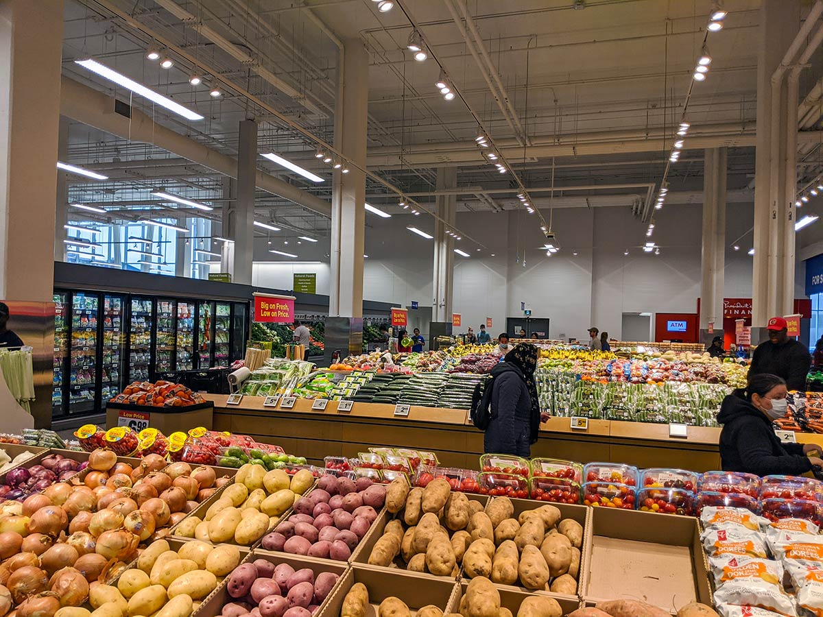 Real Canadian Superstore East Village in Calgary vegetables veggies produce