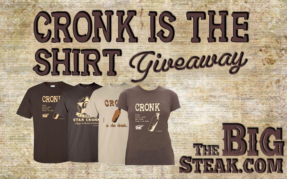 Cronk is the drink, buy cronk, win cronk