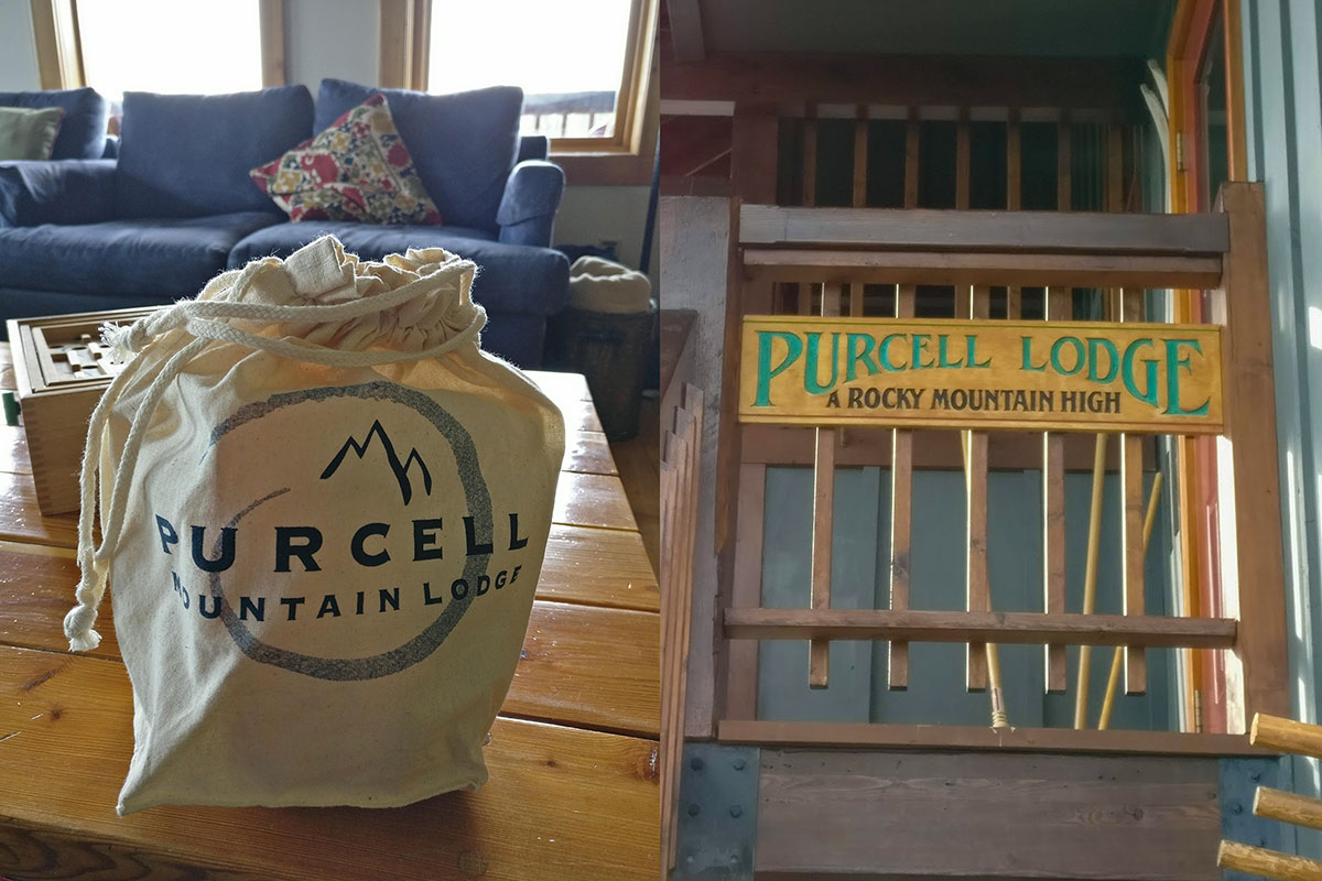 Purcell Mountain Lodge games - a rocky mountain high
