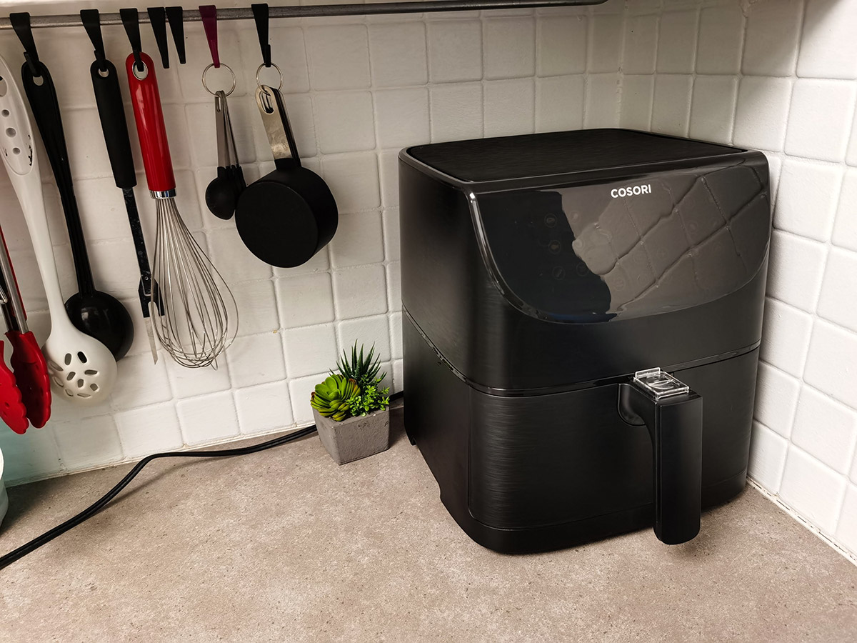 COSORI 5.8QT Air Fryer From Amazon on counter top