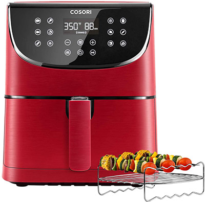 COSORI 5.8QT Air Fryer From Amazon in Red