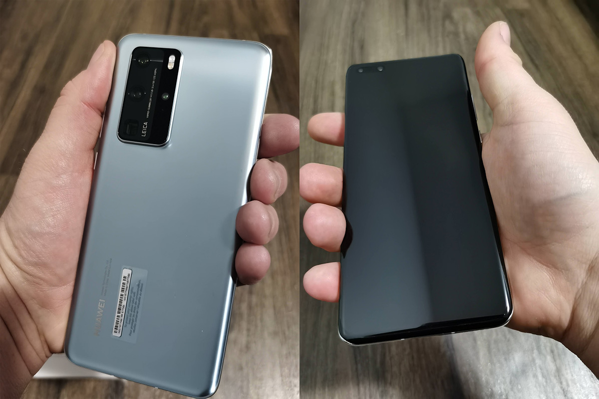 Huawei P40 Pro: First Impressions & Unboxing in the hand back and front