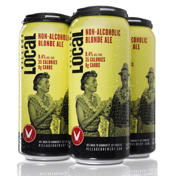 Village Brewery Non-Alcoholic Blonde 35 calories 9g carbs