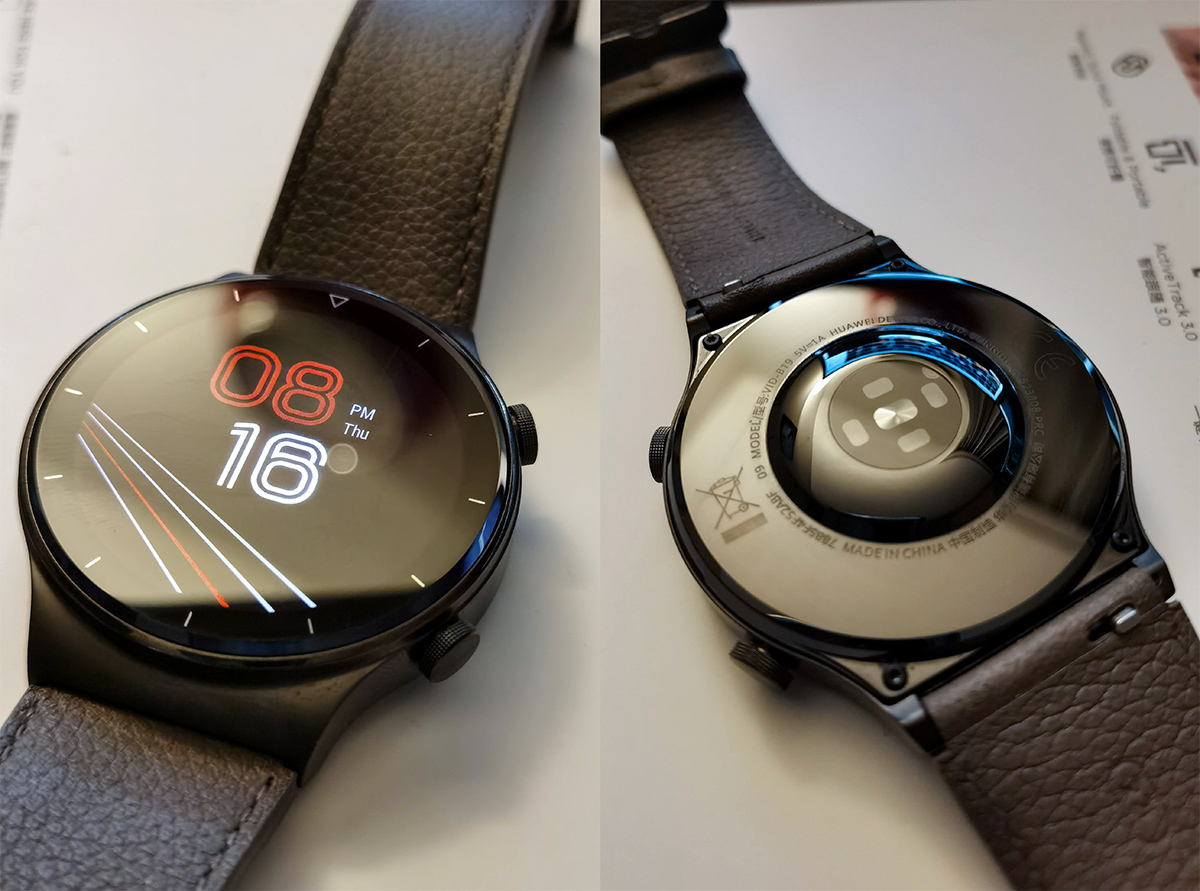 Huawei Watch GT 2 Pro Smartwatch Front and back